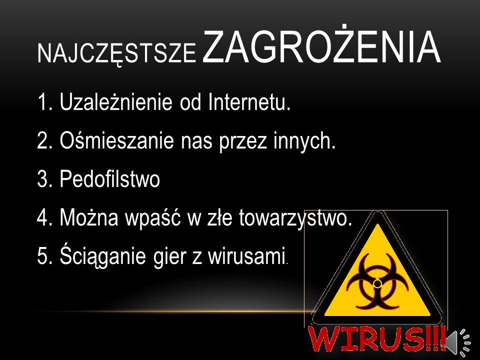 NAJCZĘSTSZE ZAGROŻENIA 1.Uzależnienie od Internetu.