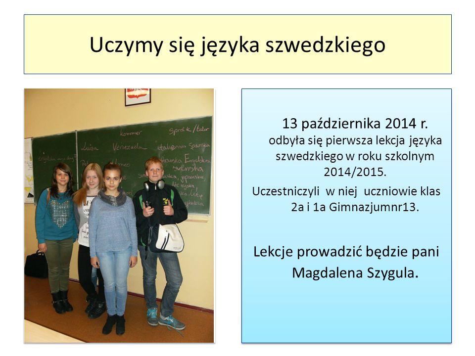 Uczymy się języka szwedzkiego 13 października 2014 r.