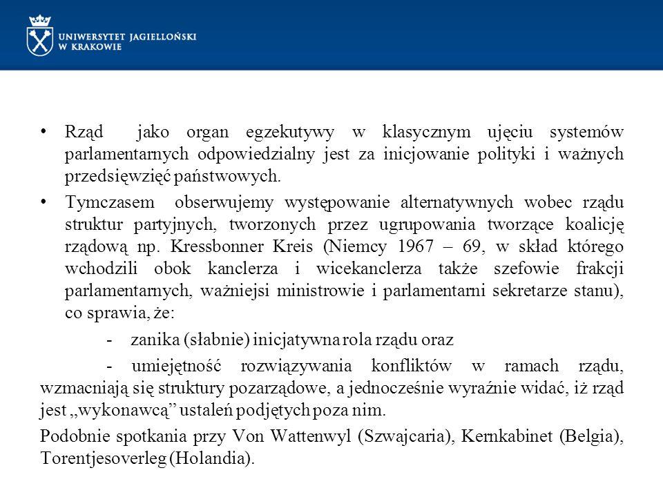 Rząd jako organ egzekutywy w klasycznym ujęciu systemów parlamentarnych odpowiedzialny jest za inicjowanie polityki i ważnych przedsięwzięć państwowyc