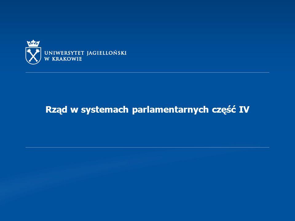 IV.Organizacja rządu. Struktury.