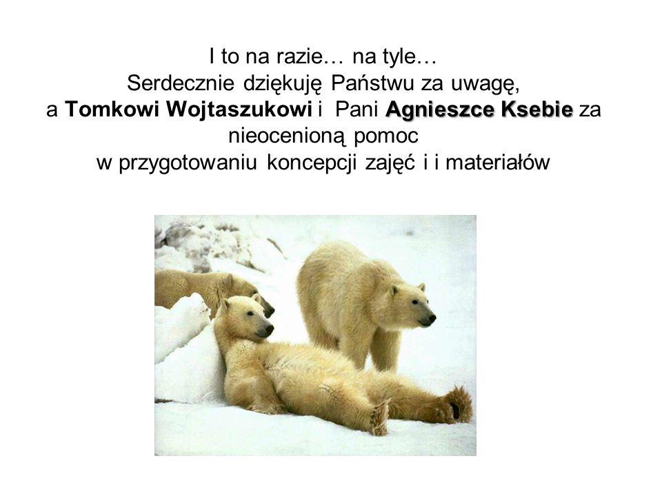 Agnieszce Ksebie I to na razie… na tyle… Serdecznie dziękuję Państwu za uwagę, a Tomkowi Wojtaszukowi i Pani Agnieszce Ksebie za nieocenioną pomoc w p