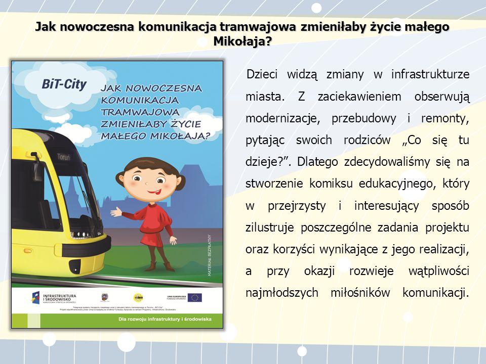 Mikołaj Kopernik na kartach komiksu opowiada dzieciom o swoich przygodach, nawiązując przy tym do współczesnego transportu miejskiego.