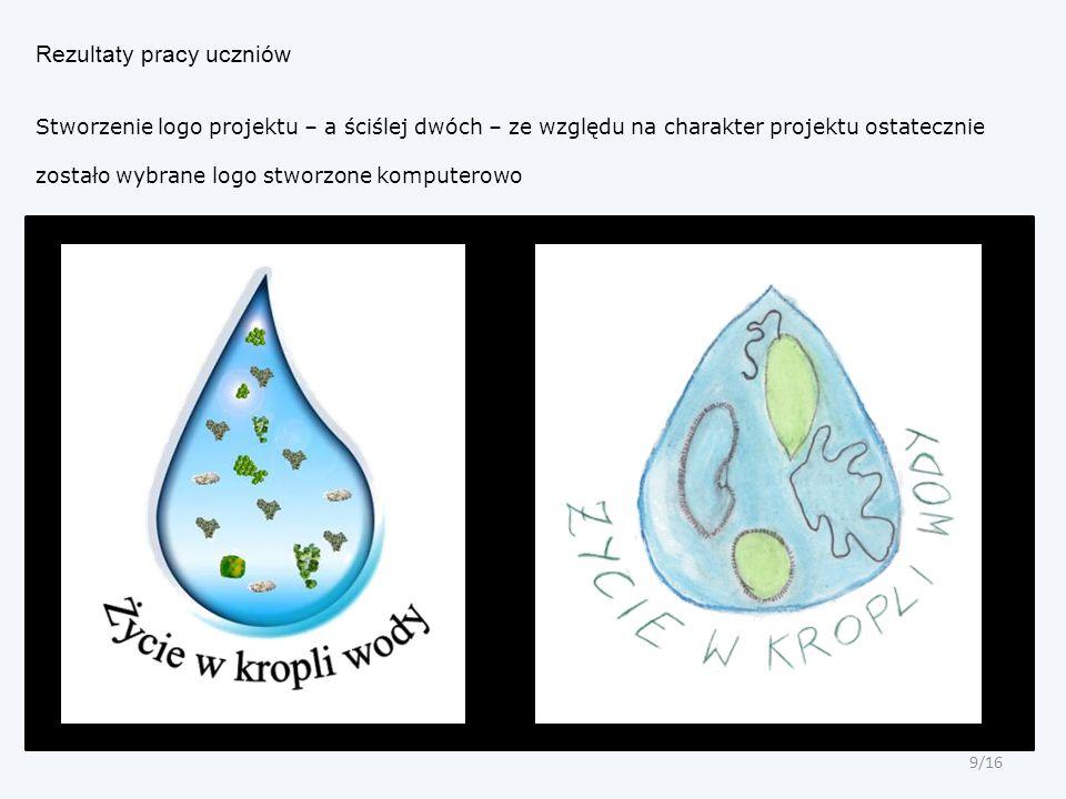 Rezultaty pracy uczniów Stworzenie logo projektu – a ściślej dwóch – ze względu na charakter projektu ostatecznie zostało wybrane logo stworzone kompu
