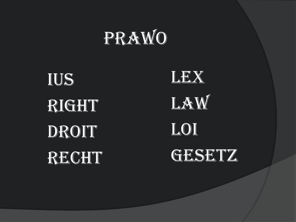 prawo ius right droit Recht Lex Law Loi gesetz