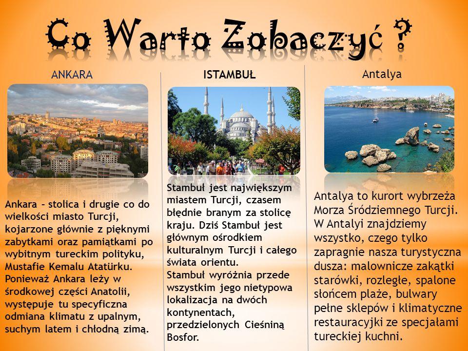 ANKARA Ankara – stolica i drugie co do wielkości miasto Turcji, kojarzone głównie z pięknymi zabytkami oraz pamiątkami po wybitnym tureckim polityku, Mustafie Kemalu Atatürku.