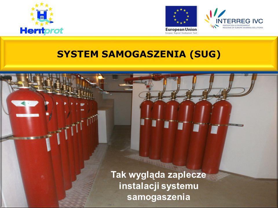 SYSTEM SAMOGASZENIA (SUG) Tak wygląda zaplecze instalacji systemu samogaszenia