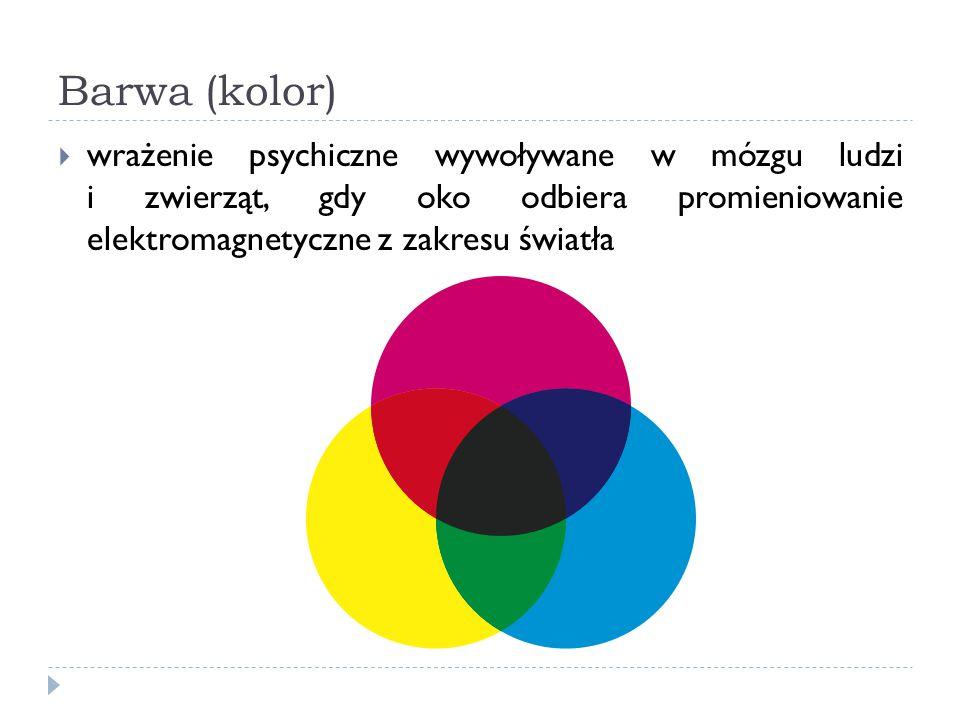 Barwa (kolor)  wrażenie psychiczne wywoływane w mózgu ludzi i zwierząt, gdy oko odbiera promieniowanie elektromagnetyczne z zakresu światła