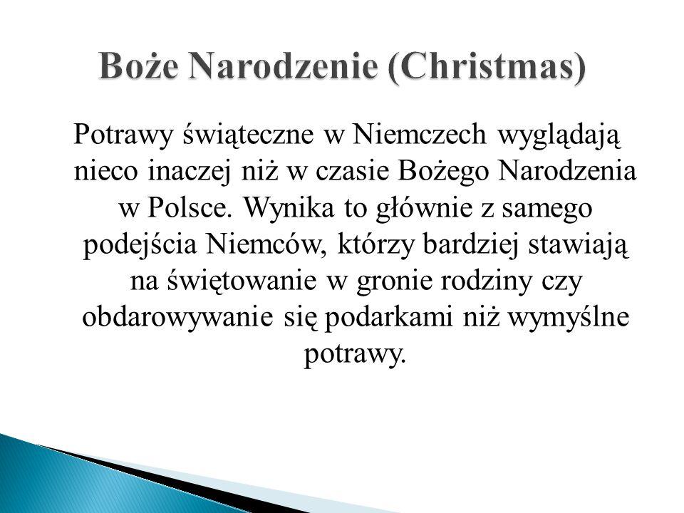 Potrawy świąteczne w Niemczech wyglądają nieco inaczej niż w czasie Bożego Narodzenia w Polsce.