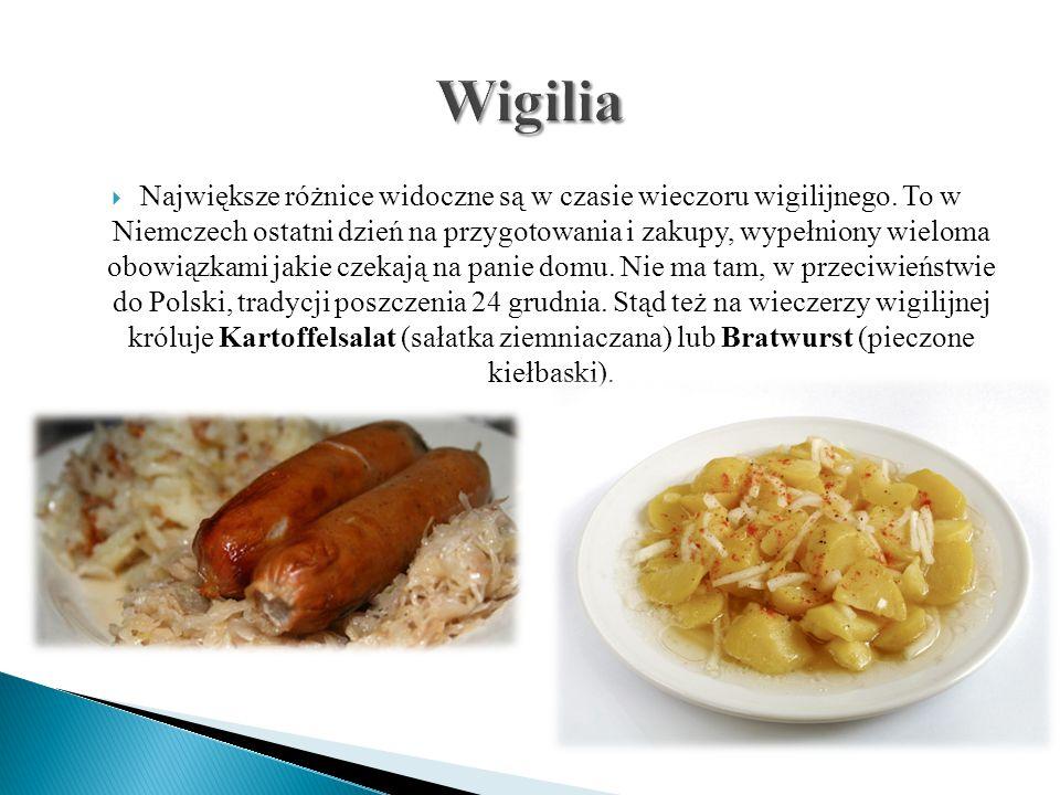  Sauerkraut Salad (Sałatka z kiszonej kapusty )  Linsensuppe ( Zupa z soczewicy)  Pretzel (Precle)  Erbsensuppe (Grochówka)  Grüne Bohnensuppe ( Zupa z zielonej fasoli)  Karotte Suppe (Zupa z marchwi)