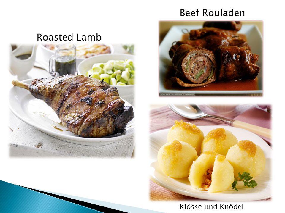 Roasted Lamb Klösse und Knödel Beef Rouladen
