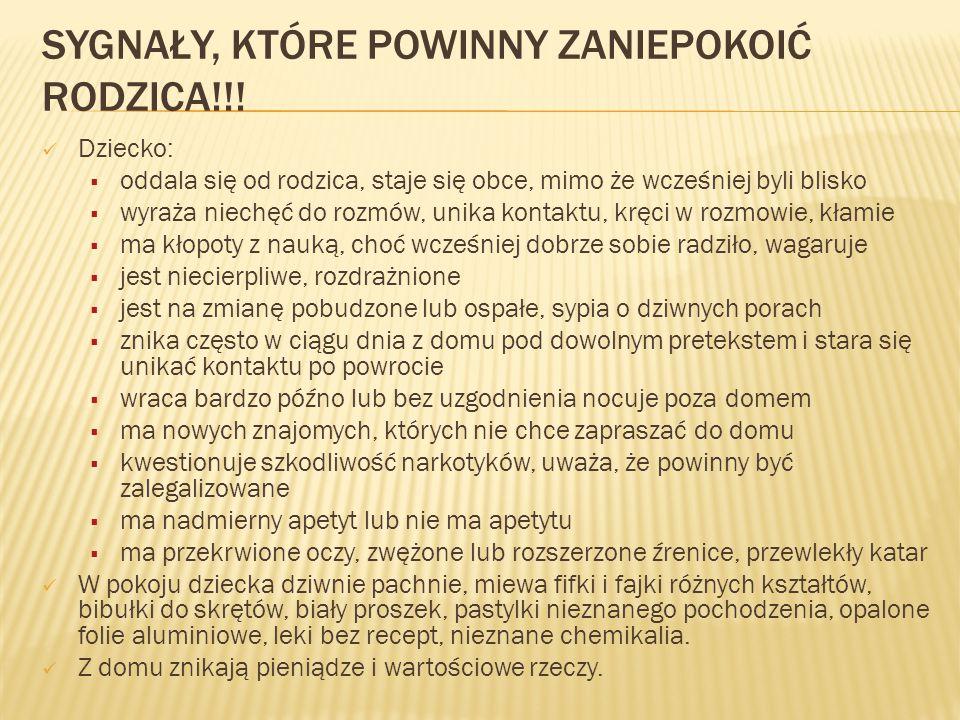 SYGNAŁY, KTÓRE POWINNY ZANIEPOKOIĆ RODZICA!!.
