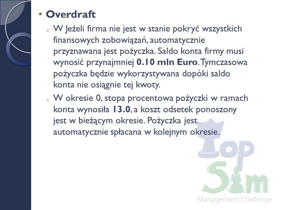 Overdraft o W Jeżeli firma nie jest w stanie pokryć wszystkich finansowych zobowiązań, automatycznie przyznawana jest pożyczka.