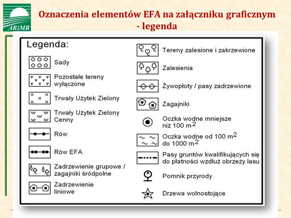 Agencja Restrukturyzacji i Modernizacji Rolnictwa Oznaczenia elementów EFA na załączniku graficznym - legenda
