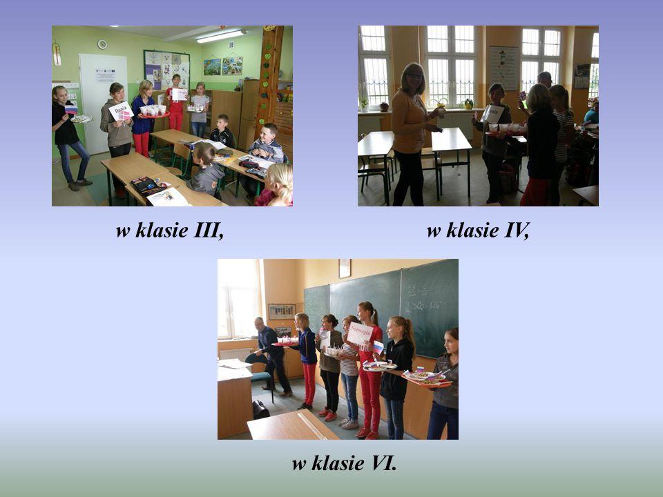 w klasie III,w klasie IV, w klasie VI.