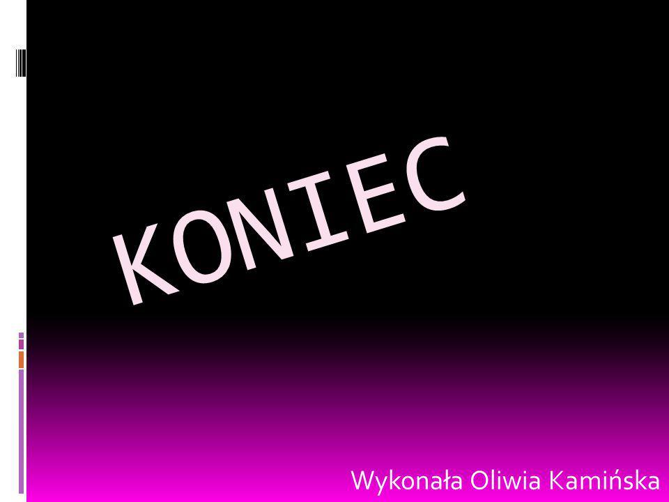 KONIEC Wykonała Oliwia Kamińska