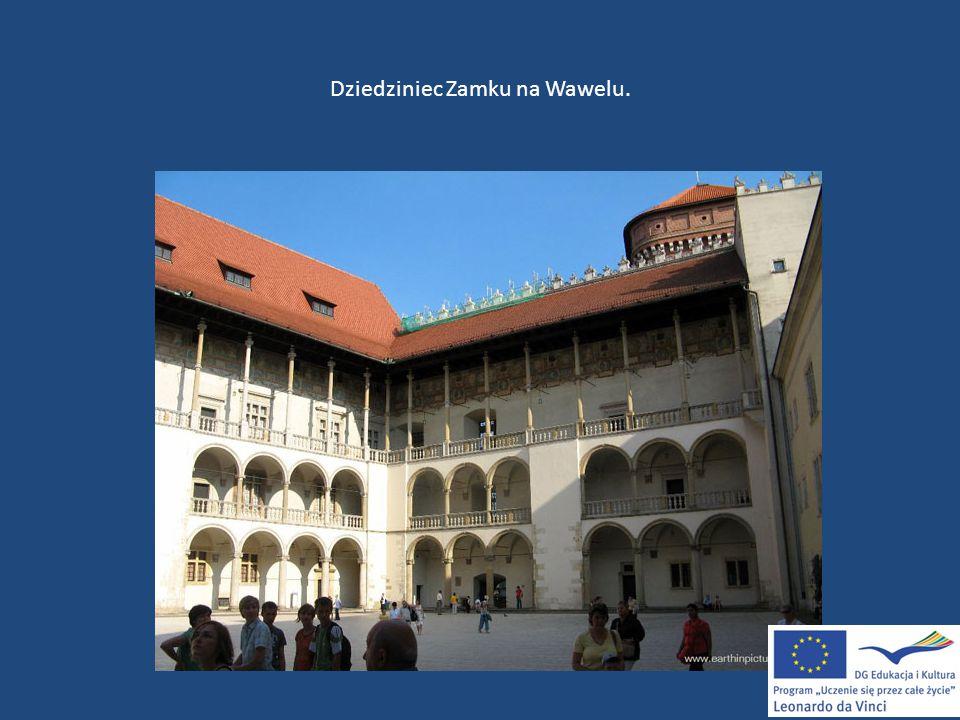 Dziedziniec Zamku na Wawelu.