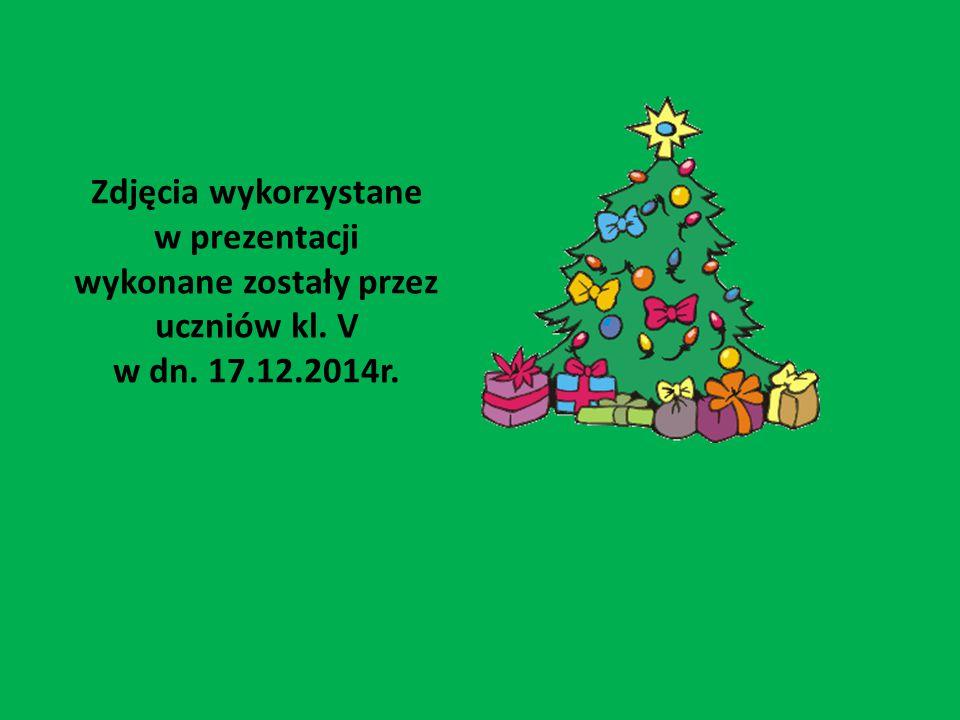 Zdjęcia wykorzystane w prezentacji wykonane zostały przez uczniów kl. V w dn. 17.12.2014r.
