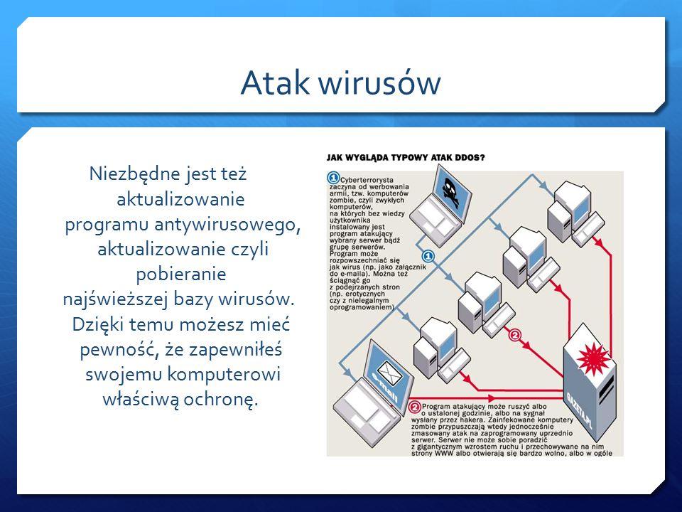 Jeśli Twój komputer podłączony jest do Internetu koniecznie musisz zainstalować na nim program antywirusowy i firewall.
