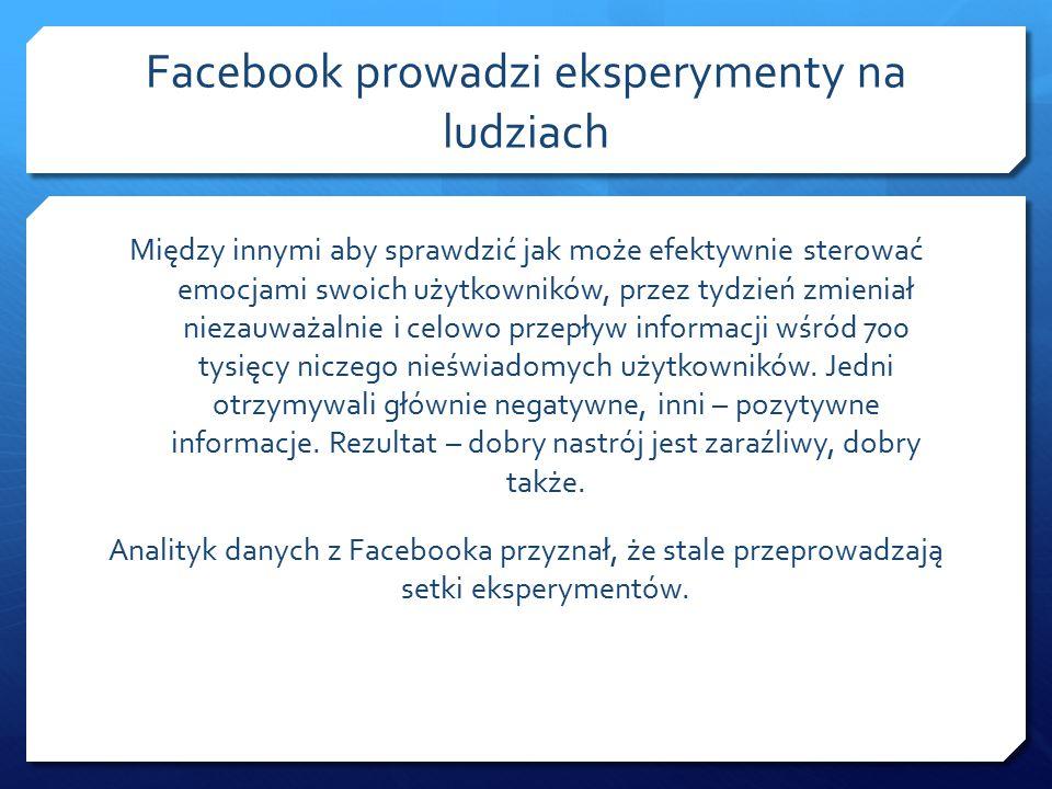 Facebook – wielka księga W której gromadzone są wszelkie informacje jakie umieściłeś na portalu Facebook, dane Twoich znajomych.