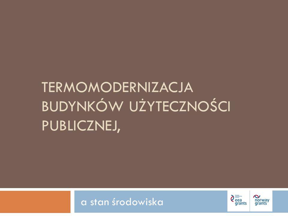 I.Potrzeba realizacji inwestycji II. Cele termomodernizacji III.