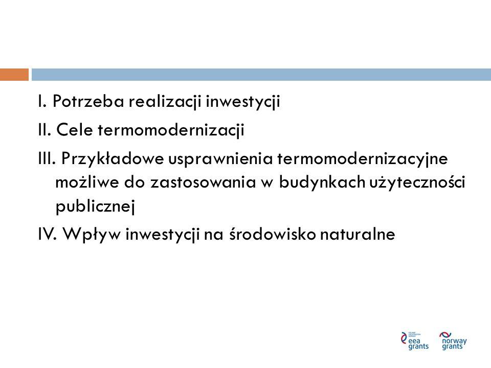 I.Potrzeba realizacji inwestycji 1. Krajowe i regionalne programy strategiczne 2.