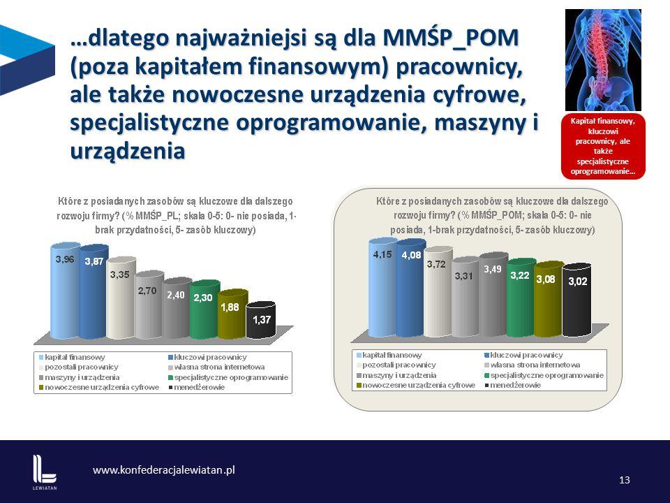 www.konfederacjalewiatan.pl 13 Kapitał finansowy, kluczowi pracownicy, ale także specjalistyczne oprogramowanie… …dlatego najważniejsi są dla MMŚP_POM (poza kapitałem finansowym) pracownicy, ale także nowoczesne urządzenia cyfrowe, specjalistyczne oprogramowanie, maszyny i urządzenia