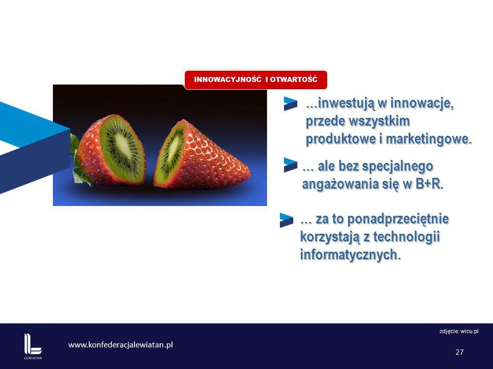www.konfederacjalewiatan.pl 27 …inwestują w innowacje, przede wszystkim produktowe i marketingowe.