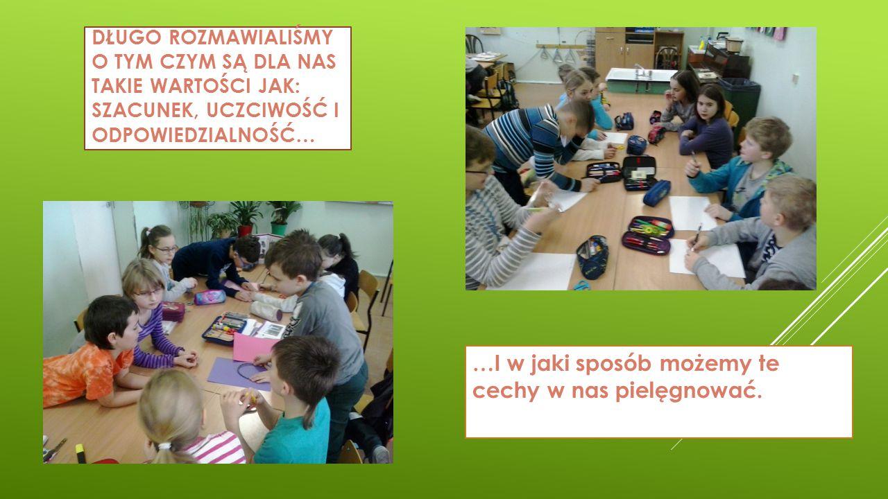 PO BURZLIWEJ DYSKUSJI…  Opracowaliśmy wspólnie plan projektu, którego celem było zorganizowanie w naszej szkole kilku akcji pod hasłem szacunek, odpowiedzialność i uczciwość.