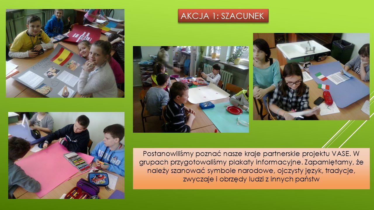 AKCJA 1: SZACUNEK Postanowiliśmy poznać nasze kraje partnerskie projektu VASE.