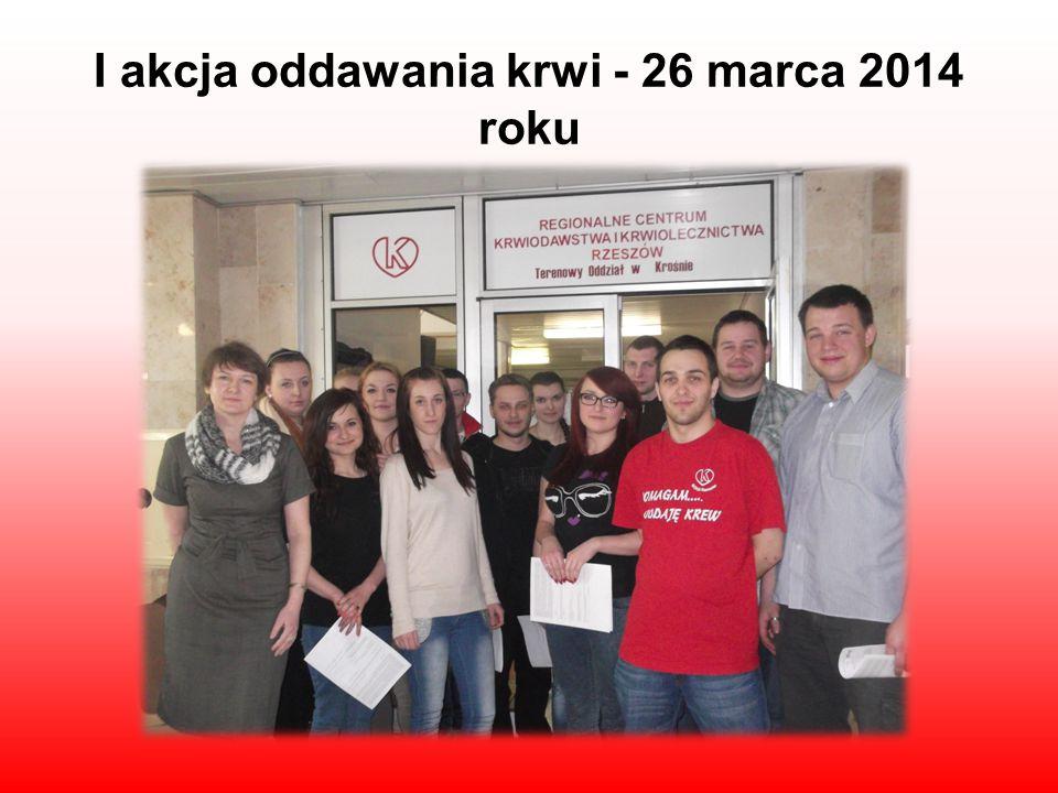 I akcja oddawania krwi - 26 marca 2014 roku