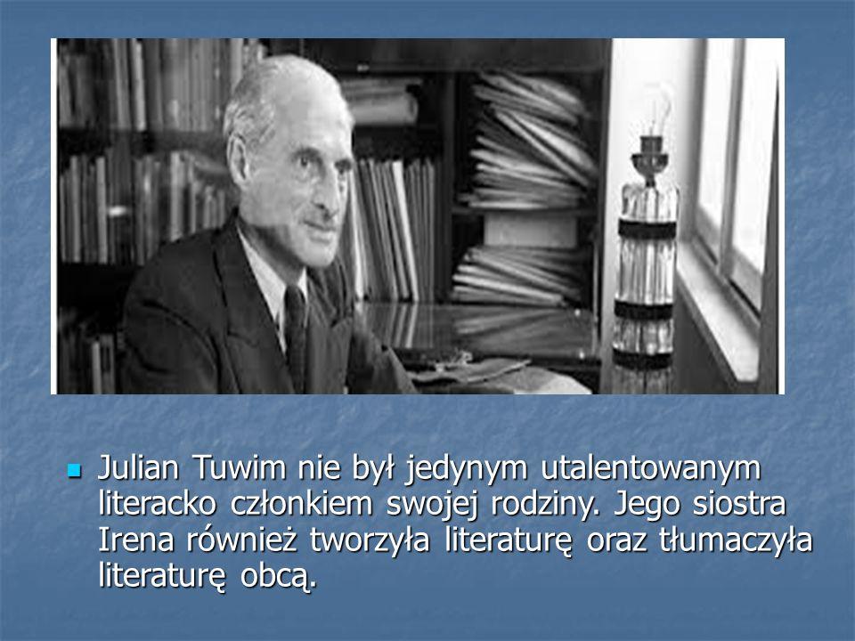 BIOGRAFIA JULIANA TUWIMA Julian Tuwim urodził się 13 września 1894 w Łodzi.
