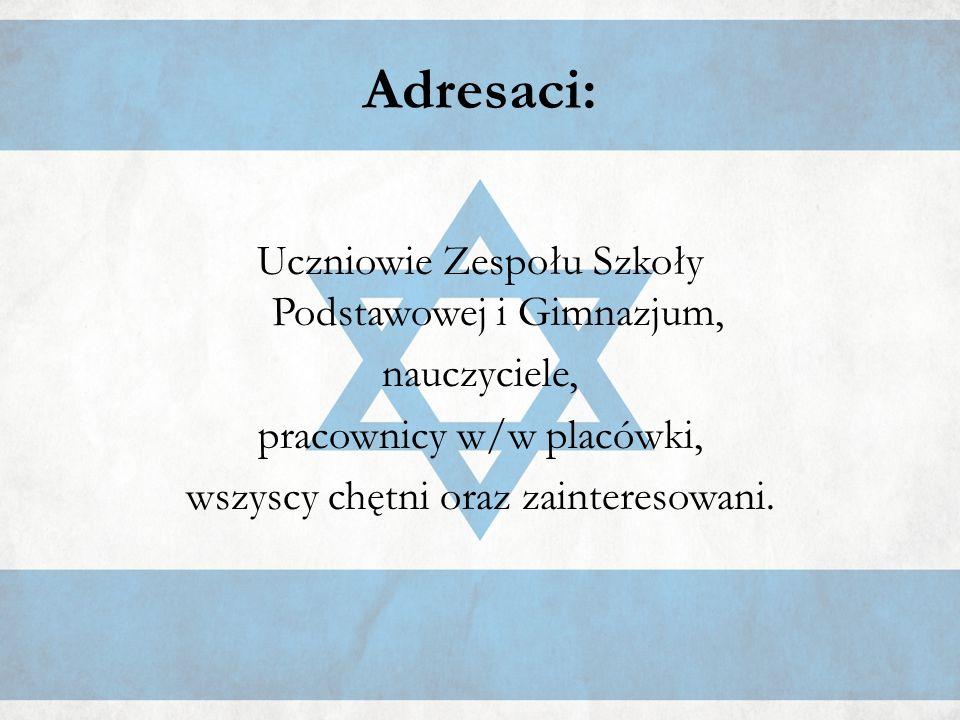 Całość została wzbogacona oryginalną muzyką żydowską oraz egzotycznym zapachem typowym dla tamtejszego rejonu świata spalanych kadzideł i mirry.