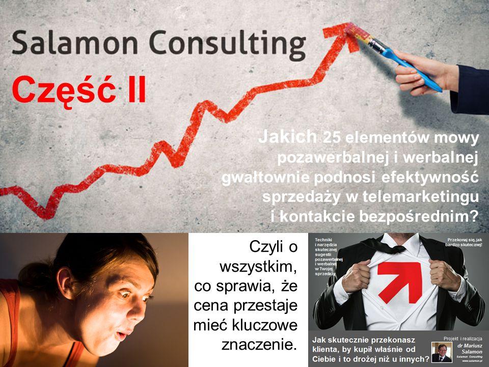 Jakich 25 elementów mowy pozawerbalnej i werbalnej gwałtownie podnosi efektywność sprzedaży w telemarketingu i kontakcie bezpośrednim.