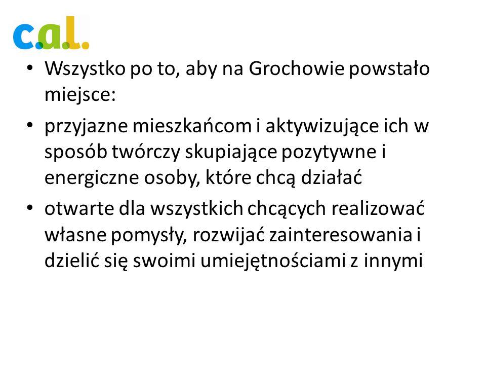 Wszystko po to, aby na Grochowie powstało miejsce: przyjazne mieszkańcom i aktywizujące ich w sposób twórczy skupiające pozytywne i energiczne osoby,