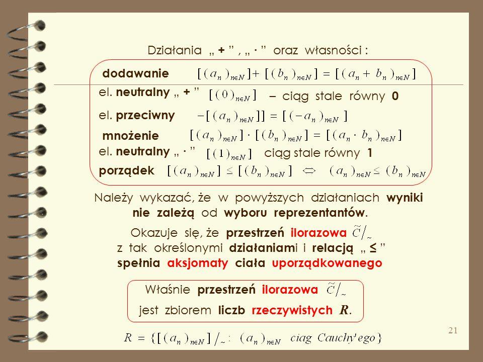 """Należy sprawdzić, że jest ona wprowadźmy relację """" ~ """" czyli jest relacją równoważnościową, i dziel i zbiór na klasy abstrakcji ( warstwy ), Zbiór tyc"""