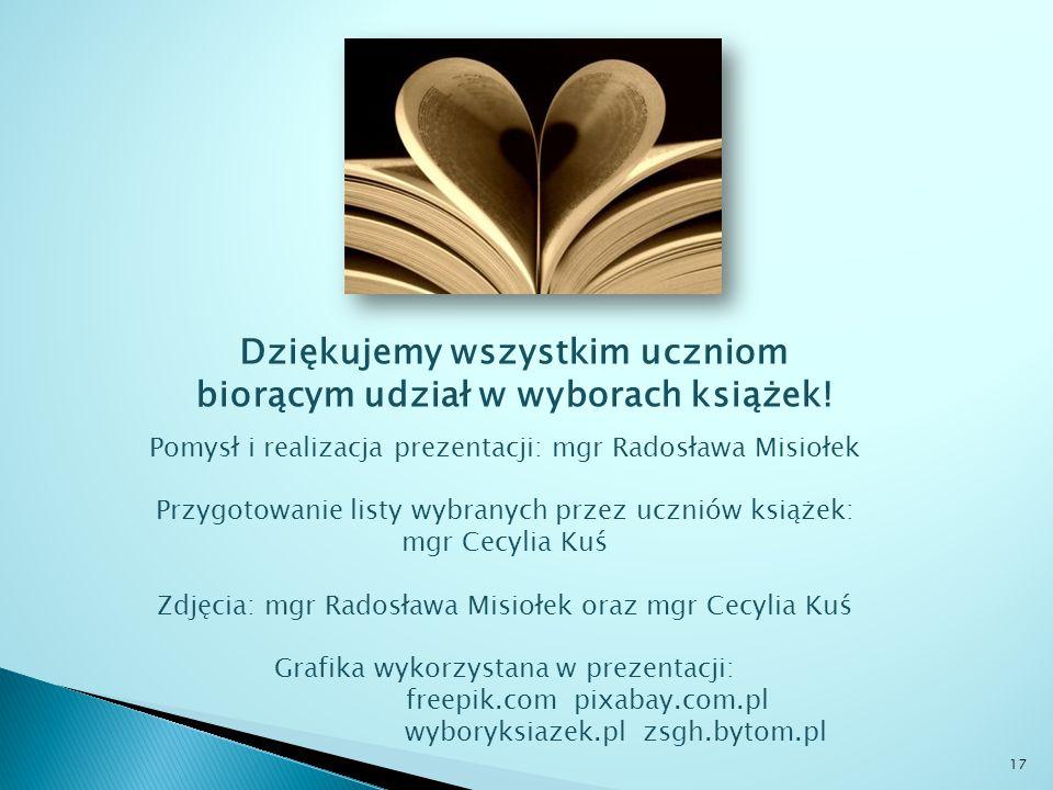 Dziękujemy wszystkim uczniom biorącym udział w wyborach książek.