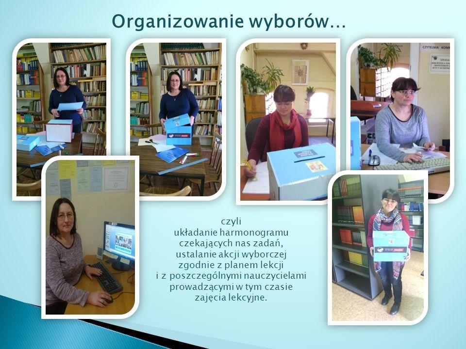 Nauczyciele bibliotekarze opracowali listę wybranych przez uczniów książek zgodnie z zasadami regulaminowymi tego ogólnopolskiego projektu oraz przygotowali zdjęcia dokumentujące organizację i przebieg wyborów, które zostały wykorzystane w niniejszej prezentacji.