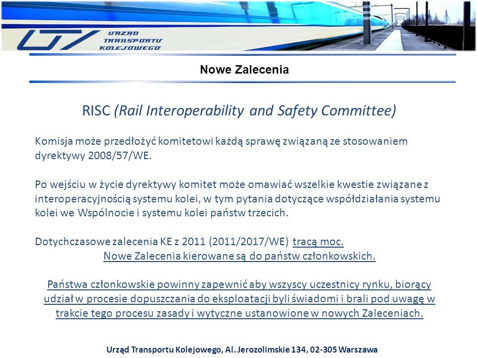 RISC (Rail Interoperability and Safety Committee) Komisja może przedłożyć komitetowi każdą sprawę związaną ze stosowaniem dyrektywy 2008/57/WE. Po wej