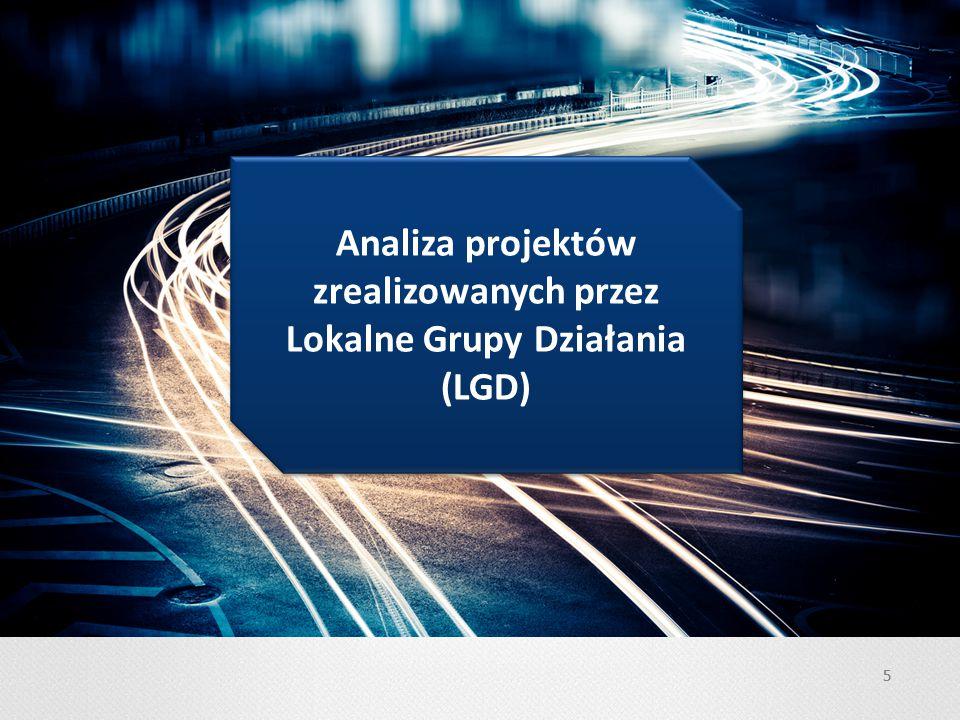 55 Analiza projektów zrealizowanych przez Lokalne Grupy Działania (LGD)