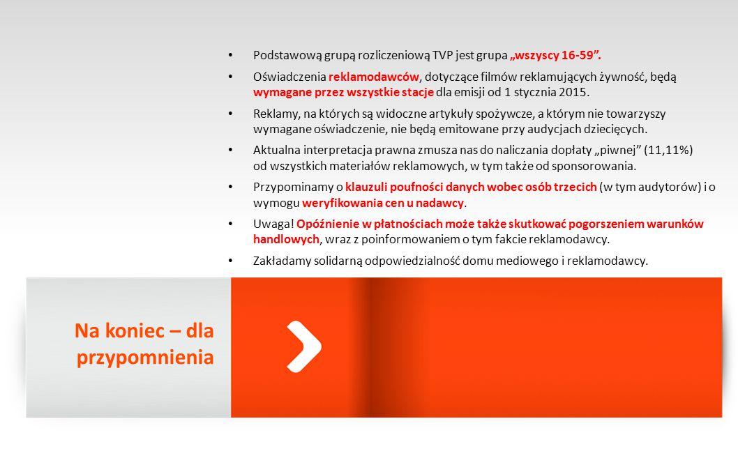 """Podstawową grupą rozliczeniową TVP jest grupa """"wszyscy 16-59 ."""