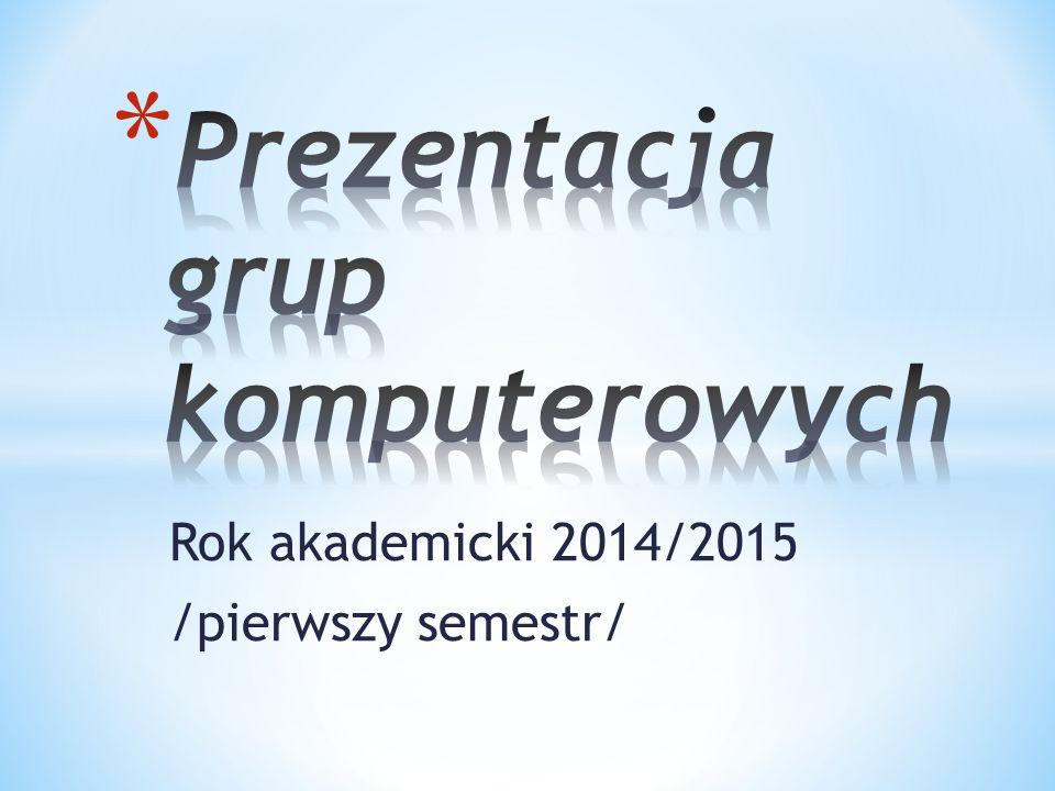 Rok akademicki 2014/2015 /pierwszy semestr/