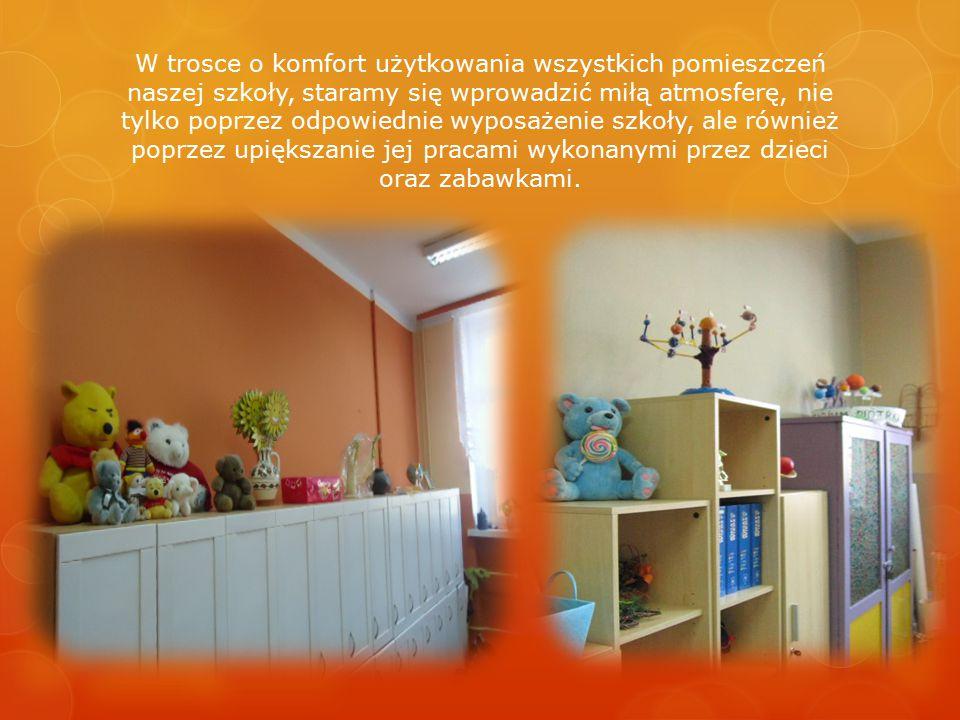 W trosce o komfort użytkowania wszystkich pomieszczeń naszej szkoły, staramy się wprowadzić miłą atmosferę, nie tylko poprzez odpowiednie wyposażenie