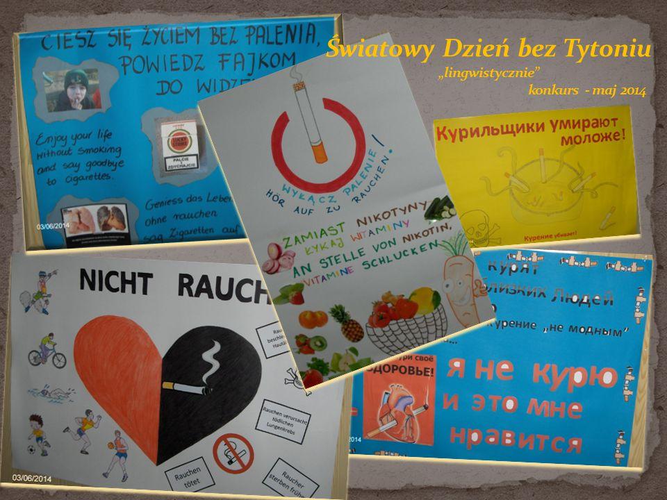 """- """"Owoce zamiast papierosów - akcja plakatowa na szkolnym korytarzu i w toaletach - ulotka dla rodziców"""