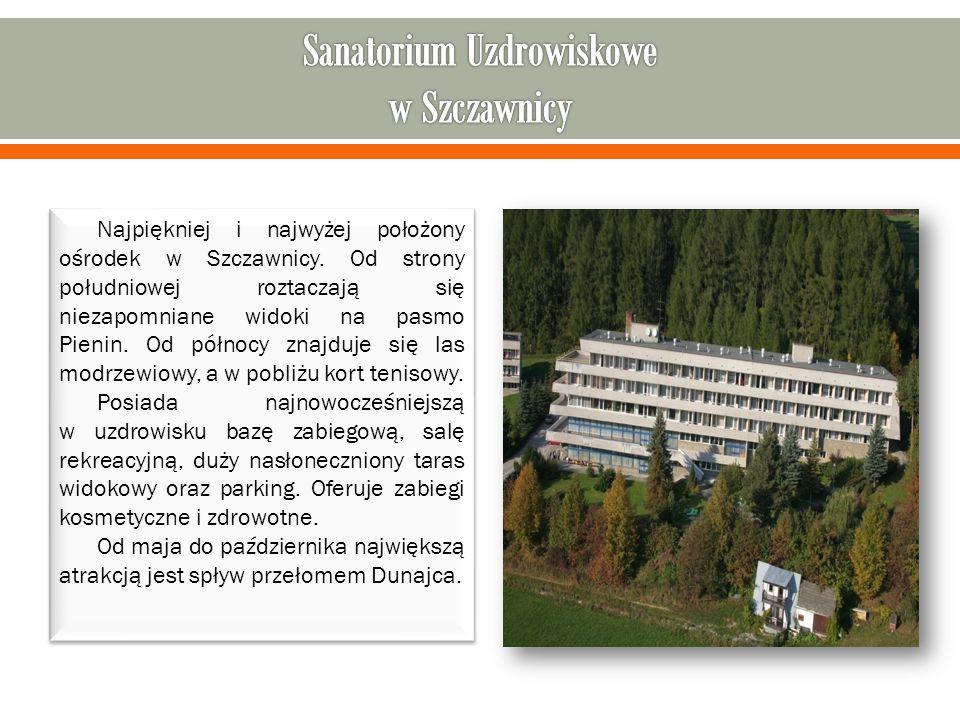 Najpiękniej i najwyżej położony ośrodek w Szczawnicy.
