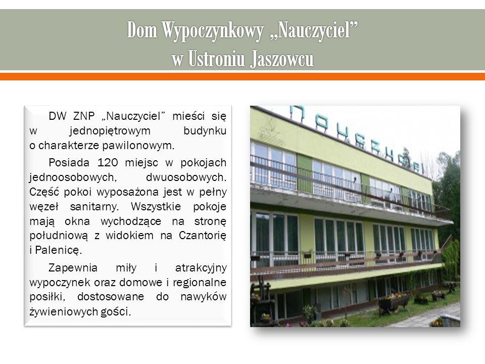 """DW ZNP """"Nauczyciel mieści się w jednopiętrowym budynku o charakterze pawilonowym."""