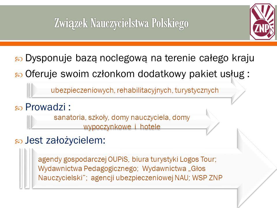 """ Zniżki w ramach Klubu NAUczyciela Członkowie ZNP przystępując do Klubu Nauczyciela, mogą korzystać ze: Zniżek na ubezpieczenia indywidualne zawierane za pośrednictwem NAU, nawet do 20% Zniżek w niemal 400 punktach usługowych w całej Polsce Przepustką do uzyskania zniżek z Kartą Klubu Nauczyciela jest ubezpieczenie grupowe w PZU Życie w programie """"Edukacja"""