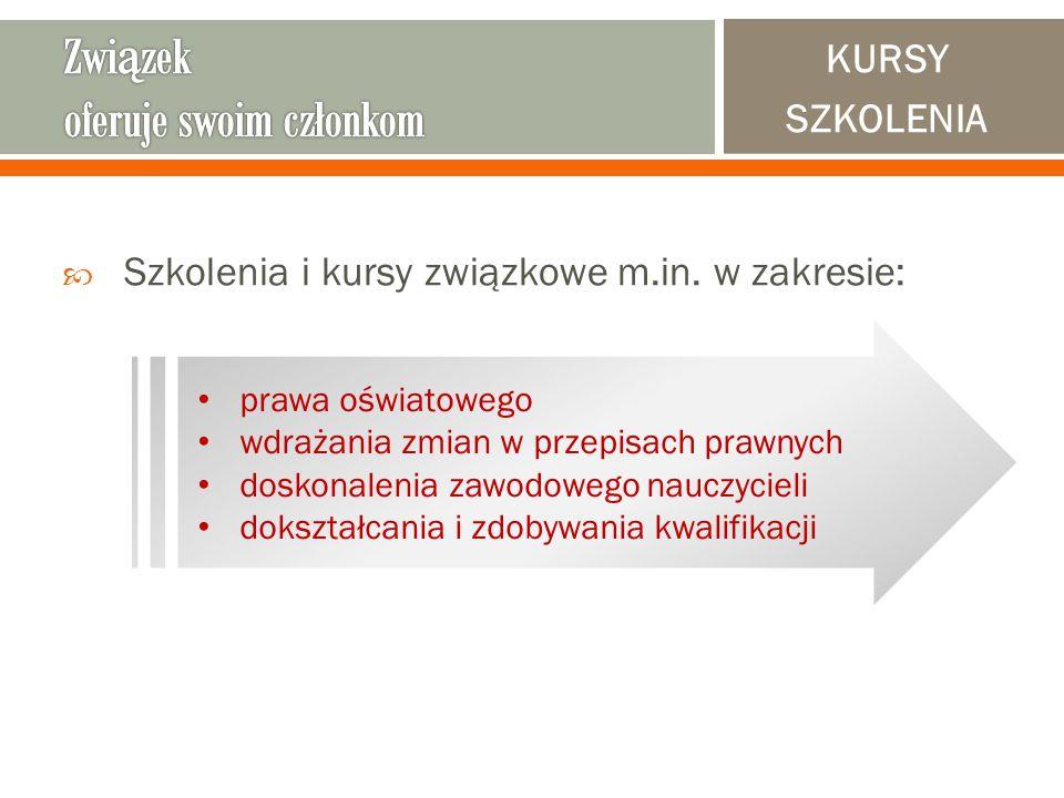  Szkolenia i kursy związkowe m.in.