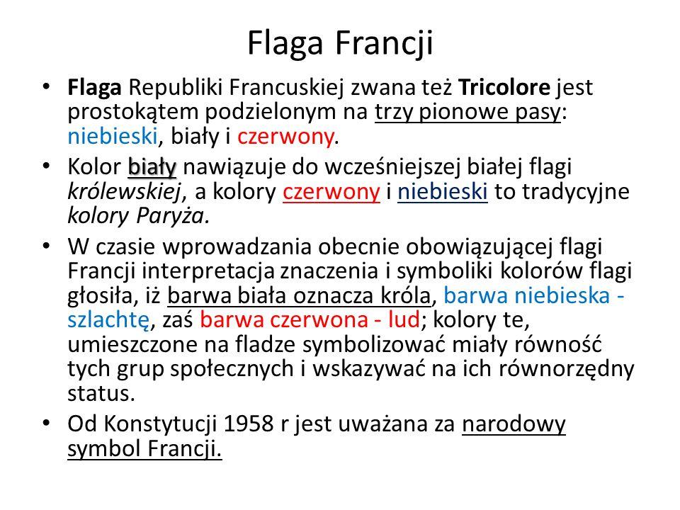 Godło i symbole Francji Rewolucja francuskaRewolucja francuska odrzuciła heraldykę monarchii, a Republika nie przyjęła żadnego oficjalnego godła, stąd we Francji ustanowiono jedynie szereg symboli państwowych, używanych w zależności od okoliczności.godłaFrancji Rózgi liktorskie: rózgi związane w pęk z wetkniętym w środek toporem – symbol etruski przejęty przez Rzymian, oznaczający władzę urzędową i karną.