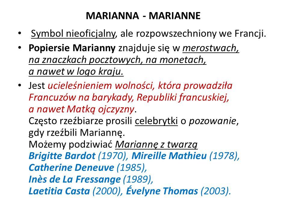 Marianna Oficjalnym symbolem Francji jest także wybrany w 1999 r.
