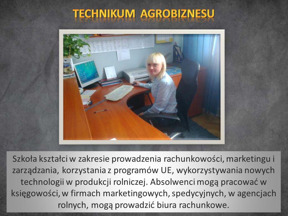 Szkoła kształci w zakresie prowadzenia rachunkowości, marketingu i zarządzania, korzystania z programów UE, wykorzystywania nowych technologii w produkcji rolniczej.